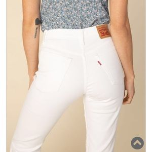 // Levi's 501 Skinny high rise white jeans //